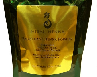 Hiral Henna - 100g Rajasthani Henna Powder