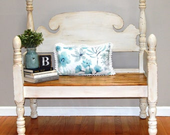 Vintage Bench Re-Purposed from Antique Twin Size Bed