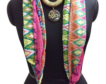 Scarves with Necklace & Tassels