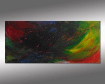 "SC-Art - abstract & modern / acrylic painting / 24""x55"""