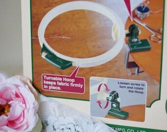 Turntable hoop-Embroidery Hoop- Tambour embroidery Hoop- Clover Hoop-Hoop 7 inches