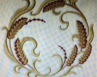 "Embroidered Beautiful ""Wheat Wreath"" Shirt"