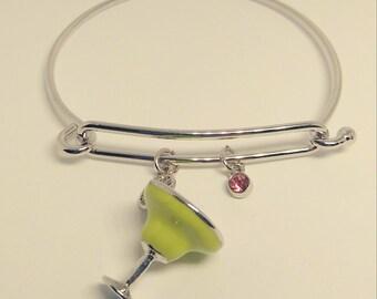 Margarita bangle bracelet, birthstone bracelet