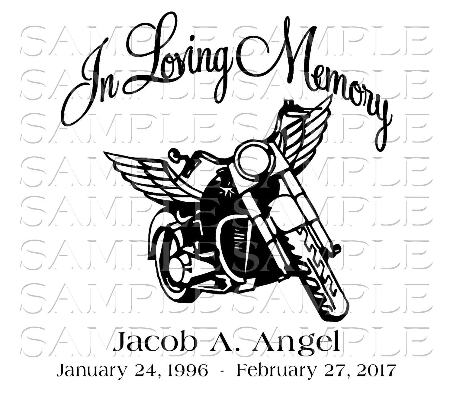 Special In Loving Memory Motorcycle Loss Svg Sticker Decal