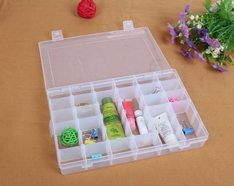 Large Storage Box, Craft Storage Box, Craft Supplies, Bead Organizer, Plastic Containers, Storage Containers, Crafts Box, one pc,  PEA20