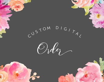 Custom Digital Order - Business Card, Thank you Cards, Mula cash