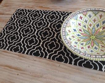 Black & White Geometric Table Runner