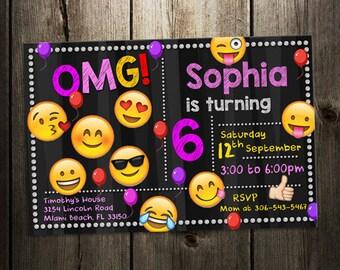 Emoji invitation party emoticons invite