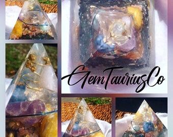 Chakra Clearing and Balancing Orgone Pyramid