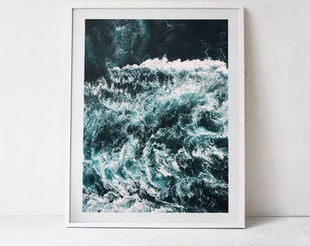 Sea Print, Wall Art Sea, Ocean Wall Art, Ocean Waves Print, Nautical Decor - 062