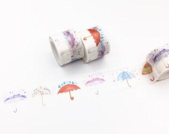 Colorful Umbrella Washi Tape