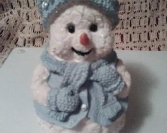 Snowman Figurine , Snowman Statue
