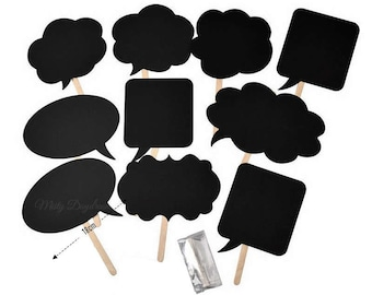 Ready Made Empty Speech Bubbles Set Of 10 // Baby Shower Party Birthday Birthday Event Photo Booth Props