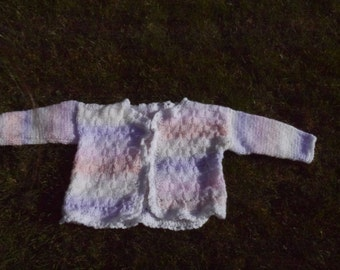 Cute pastel rainbow girls cardigan. Baby, children glittery frilly edge. Great gift for a baby shower