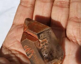 Hematite Inclusion Quartz Double Terminated