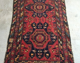 4'4''x6'8'' Antique Caucasian Rug , Shirvan Rug Over 100 Years Old , Unique Design ,