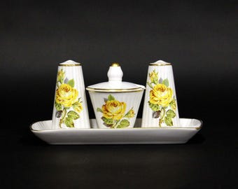 Royal Porcelain-Gouda salt & pepper set with floral decor
