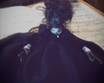 Handmade Bertha 'BESSIE' Zettle Boronda  Victorian Creepy/Skull/Macabre/ Art Doll