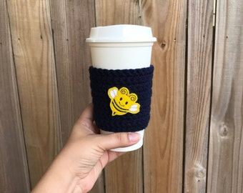 SALE---Sweet Honeybee Cup Cozy, Teacher gift, Cup cozy, Mason jar cozy