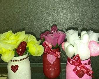 Valentines Day Vases