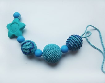 Teether - Crocheted teething toy - Babywearing eco friendly toy