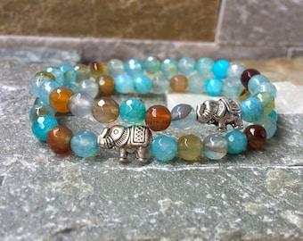 Friendship bracelets bracelet set girlfriends agate elephant