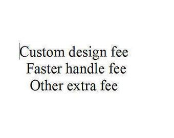 extra fee of custom topper