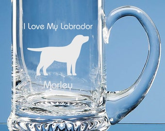 Labrador Personalised Tankard Dog Lover Gift, Labrador Beer Glass, Labrador Retriever Gift, Gift for Labrador Lover, Labrador Dog Gift