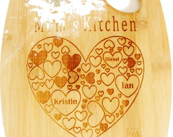 Wooden small cutting board, bamboo cutting board, custom engraved gift, wedding gift, anniversary gift, cheese board, butcher block,