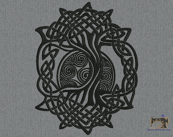 Celtic symbol tree of life Machine embroidery design 3 sizes for instant download