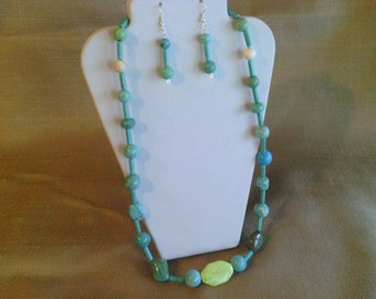185 Delightful Multi Shaped and Multi Colored Magnesite Turquoise Beaded Necklace