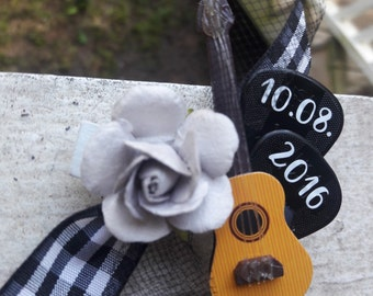 Music Festival Wedding Boutonniere