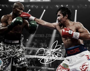 Manny Pacquiao pre signed photo print poster - 12x8 inches (30cm x 20cm) - N.0 2