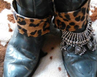 Fun and funky upcycled vintage booties.  Size 9 1/2
