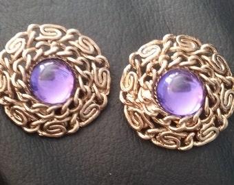 Earrings, Vintage Earrings, Clip on Earrings, estate Jewelry, Vintage Clip on Earrings, Statement Jewelry,