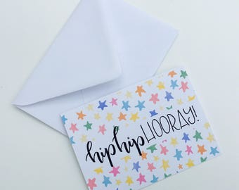 Hip Hip Hooray! Greetings Card