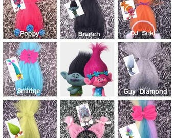 Trolls Headband, Poppy Headband, Troll Birthday Party, Princess Poppy, Troll Hair, Birthday Party Favor, Trolls Birthday Party Pack