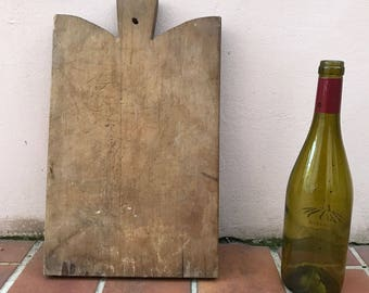 ANTIQUE VINTAGE FRENCH bread or chopping cutting board wood 371