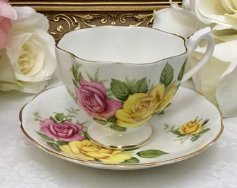 Queen Anne teacup and saucer.