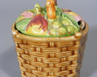 Jam Pot,  Preserve Pot,  Vintage Japanese,  Marutomoware,  Marutomo,  1920's, Free UK Postage
