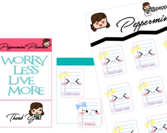 School Final and Test Planner stickers{#209}