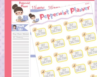 Buy Dog Food Planner Stickers #340