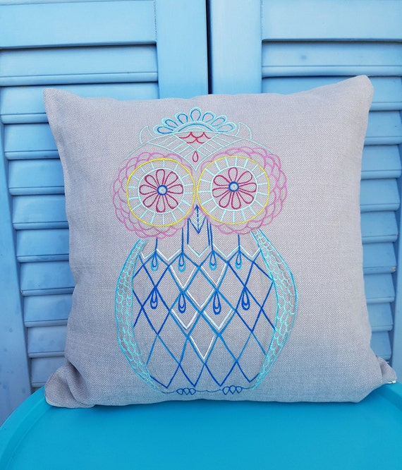Owl Throw Pillow Etsy : Handmade Owl Pillow Decorative Pillows Home decor Owl