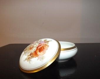 Limoges FRANCE candy jewel cover box decorative porcelain