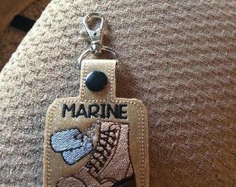 Marine Girlfriend key chain