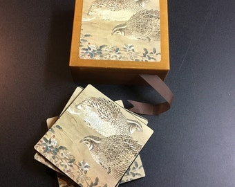 Quail Coasters - Boxed Set