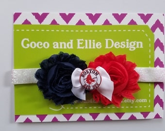 Boston red sox headband-red sox headband-boston red sox baby shower gift-baby red soxs/newborn red soxs-boston red sox for girl-