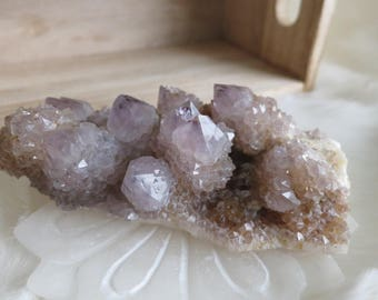 365g Dusty Purple Spirit Quartz with Phantoms - ITEM #206 - 11.9 X 6.6 X 4.4cm