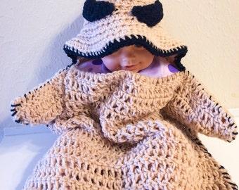 Crochet oogie boogie baby cocoon