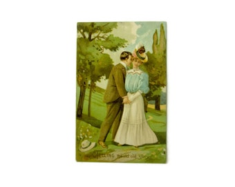Vintage Postcard, Post Card, Greeting Card, Valentines Day, Anniversary, Made in Germany, Embossed Card, Valentine, Vintage Card, Wedding